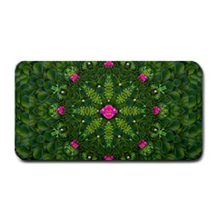 The Most Sacred Lotus Pond  With Bloom    Mandala Medium Bar Mats by pepitasart