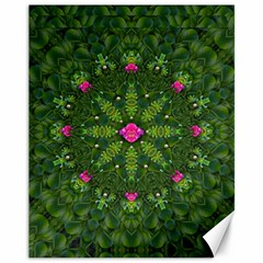 The Most Sacred Lotus Pond  With Bloom    Mandala Canvas 11  X 14
