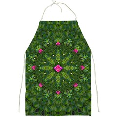 The Most Sacred Lotus Pond  With Bloom    Mandala Full Print Aprons by pepitasart