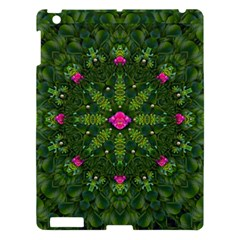 The Most Sacred Lotus Pond  With Bloom    Mandala Apple Ipad 3/4 Hardshell Case by pepitasart