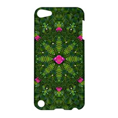 The Most Sacred Lotus Pond  With Bloom    Mandala Apple Ipod Touch 5 Hardshell Case by pepitasart