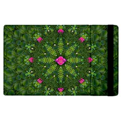The Most Sacred Lotus Pond  With Bloom    Mandala Apple Ipad 3/4 Flip Case by pepitasart