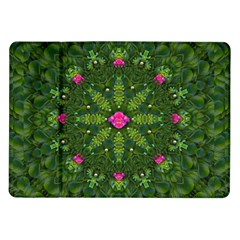 The Most Sacred Lotus Pond  With Bloom    Mandala Samsung Galaxy Tab 10 1  P7500 Flip Case by pepitasart