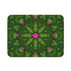 The Most Sacred Lotus Pond  With Bloom    Mandala Double Sided Flano Blanket (mini)