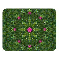 The Most Sacred Lotus Pond  With Bloom    Mandala Double Sided Flano Blanket (large)  by pepitasart