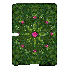 The Most Sacred Lotus Pond  With Bloom    Mandala Samsung Galaxy Tab S (10 5 ) Hardshell Case  by pepitasart