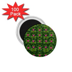The Most Sacred Lotus Pond With Fantasy Bloom 1 75  Magnets (100 Pack)