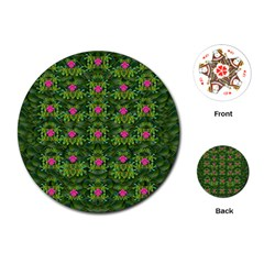 The Most Sacred Lotus Pond With Fantasy Bloom Playing Cards (round) by pepitasart