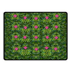 The Most Sacred Lotus Pond With Fantasy Bloom Fleece Blanket (small) by pepitasart