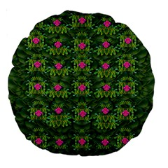 The Most Sacred Lotus Pond With Fantasy Bloom Large 18  Premium Round Cushions by pepitasart