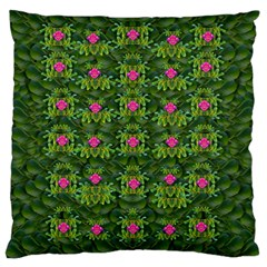 The Most Sacred Lotus Pond With Fantasy Bloom Standard Flano Cushion Case (one Side) by pepitasart
