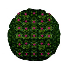 The Most Sacred Lotus Pond With Fantasy Bloom Standard 15  Premium Flano Round Cushions by pepitasart