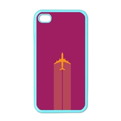 Airplane Jet Yellow Flying Wings Apple Iphone 4 Case (color)