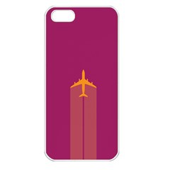 Airplane Jet Yellow Flying Wings Apple Iphone 5 Seamless Case (white)