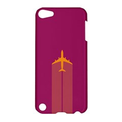 Airplane Jet Yellow Flying Wings Apple Ipod Touch 5 Hardshell Case by Nexatart
