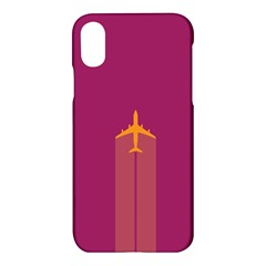 Airplane Jet Yellow Flying Wings Apple Iphone X Hardshell Case