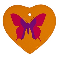 Butterfly Wings Insect Nature Ornament (heart)