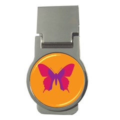 Butterfly Wings Insect Nature Money Clips (round)  by Nexatart