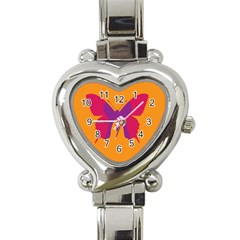 Butterfly Wings Insect Nature Heart Italian Charm Watch