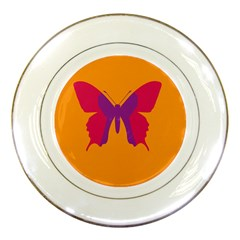 Butterfly Wings Insect Nature Porcelain Plates by Nexatart