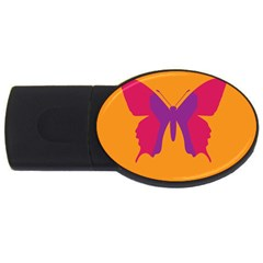 Butterfly Wings Insect Nature Usb Flash Drive Oval (4 Gb)