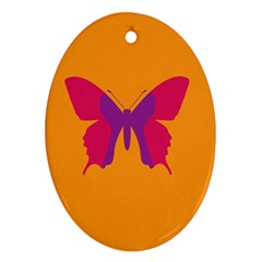 Butterfly Wings Insect Nature Oval Ornament (two Sides) by Nexatart
