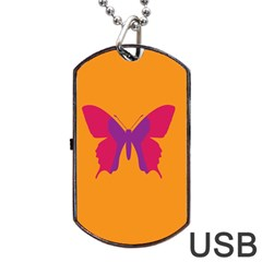 Butterfly Wings Insect Nature Dog Tag Usb Flash (two Sides)