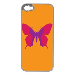 Butterfly Wings Insect Nature Apple Iphone 5 Case (silver)