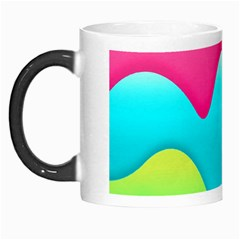Lines Curves Colors Geometric Lines Morph Mugs by Nexatart