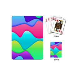 Lines Curves Colors Geometric Lines Playing Cards (mini)