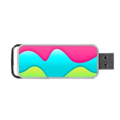 Lines Curves Colors Geometric Lines Portable Usb Flash (one Side)
