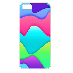 Lines Curves Colors Geometric Lines Apple Iphone 5 Seamless Case (white)