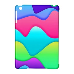 Lines Curves Colors Geometric Lines Apple Ipad Mini Hardshell Case (compatible With Smart Cover)
