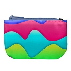 Lines Curves Colors Geometric Lines Large Coin Purse by Nexatart