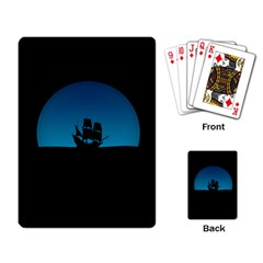 Ship Night Sailing Water Sea Sky Playing Cards Single Design