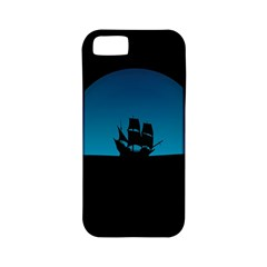Ship Night Sailing Water Sea Sky Apple Iphone 5 Classic Hardshell Case (pc+silicone) by Nexatart