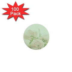 Pastel Roses Background Romantic 1  Mini Buttons (100 Pack)