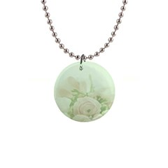 Pastel Roses Background Romantic Button Necklaces by Nexatart