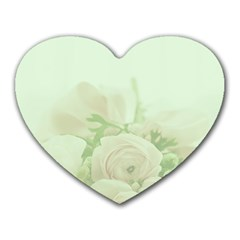 Pastel Roses Background Romantic Heart Mousepads by Nexatart