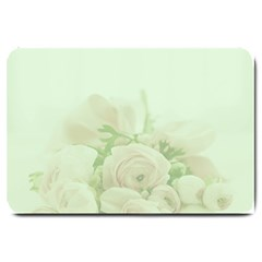 Pastel Roses Background Romantic Large Doormat  by Nexatart
