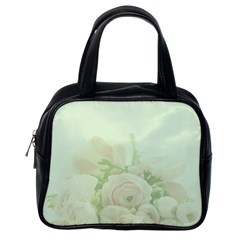 Pastel Roses Background Romantic Classic Handbag (one Side)