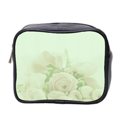 Pastel Roses Background Romantic Mini Toiletries Bag (two Sides)