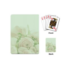 Pastel Roses Background Romantic Playing Cards (mini)