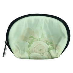 Pastel Roses Background Romantic Accessory Pouch (medium)