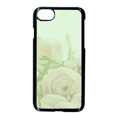 Pastel Roses Background Romantic Apple Iphone 7 Seamless Case (black) by Nexatart