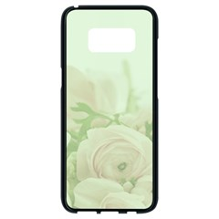 Pastel Roses Background Romantic Samsung Galaxy S8 Black Seamless Case by Nexatart
