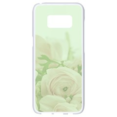 Pastel Roses Background Romantic Samsung Galaxy S8 White Seamless Case