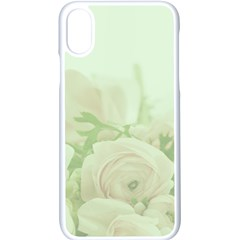 Pastel Roses Background Romantic Apple Iphone X Seamless Case (white)