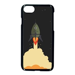 Rocket Space Stars Apple Iphone 8 Seamless Case (black)