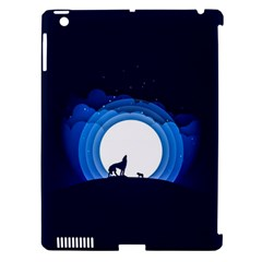 Month Full Moon Wolf Night Apple Ipad 3/4 Hardshell Case (compatible With Smart Cover)